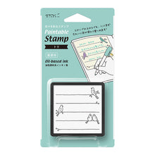 Load image into Gallery viewer, Midori Paintable Stamp Pre-inked Bird