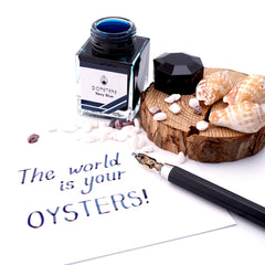 3 Oysters Delicious 38ml Ink Bottle Navy Blue