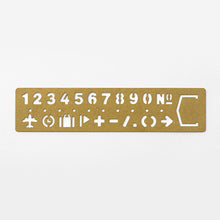 Load image into Gallery viewer, Traveler's Company Brass Template Bookmark Number
