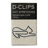 D-Clips Paper Clip Mini Box Stretching Cat