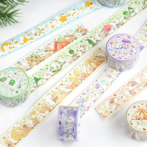 BGM Animal Party Picnic Washi Tape