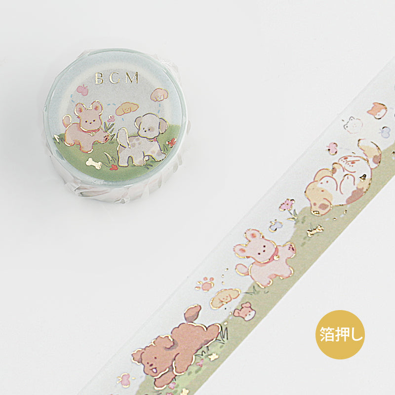 BGM Paradise Puppies Washi Tape