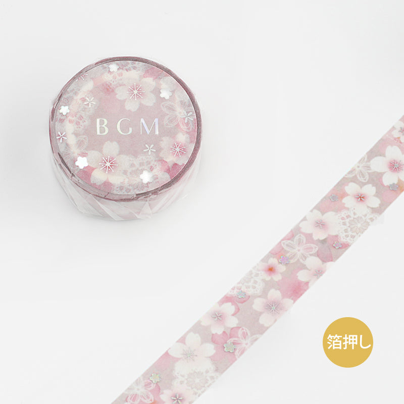 BGM Race Cherry Blossoms Washi Tape