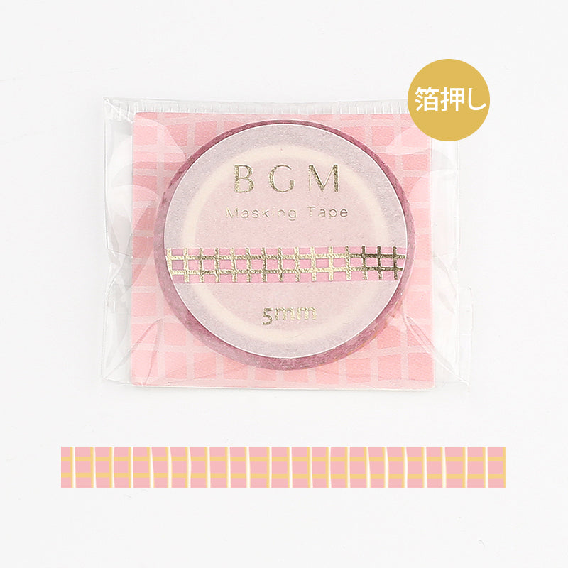 BGM Pink Check Washi Tape