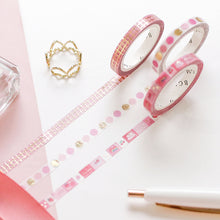Load image into Gallery viewer, BGM Pink Check Washi Tape