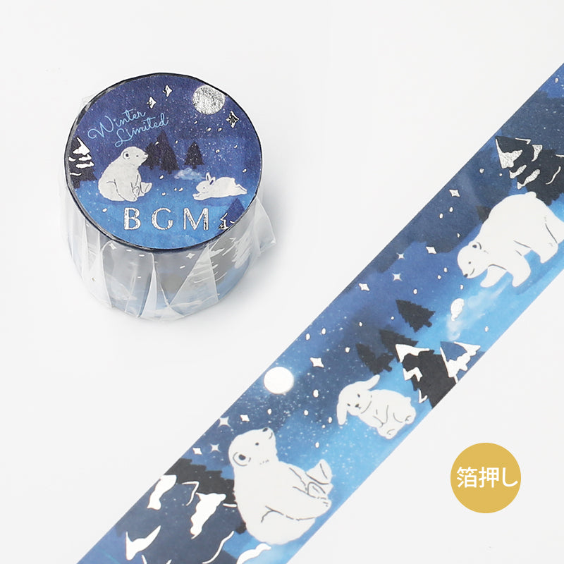 BGM Winter / Snowy Night Washi Tape
