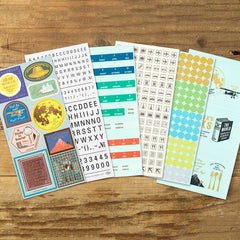 Traveler's Notebook Customized Sticker Set for Diary 2021