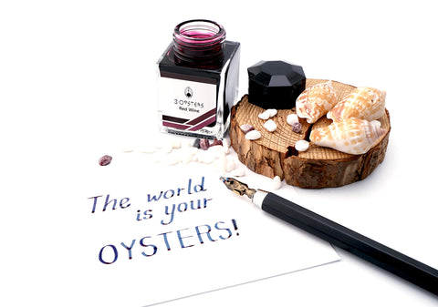 3 Oysters Delicious 38ml Ink Bottle Red Wine - Cityluxe