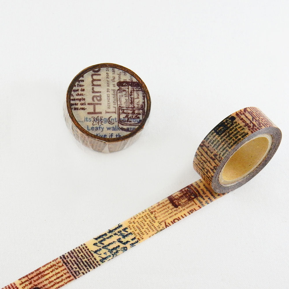 Round Top x ChamilGarden Letters Washi Tape (MTW-1309-015