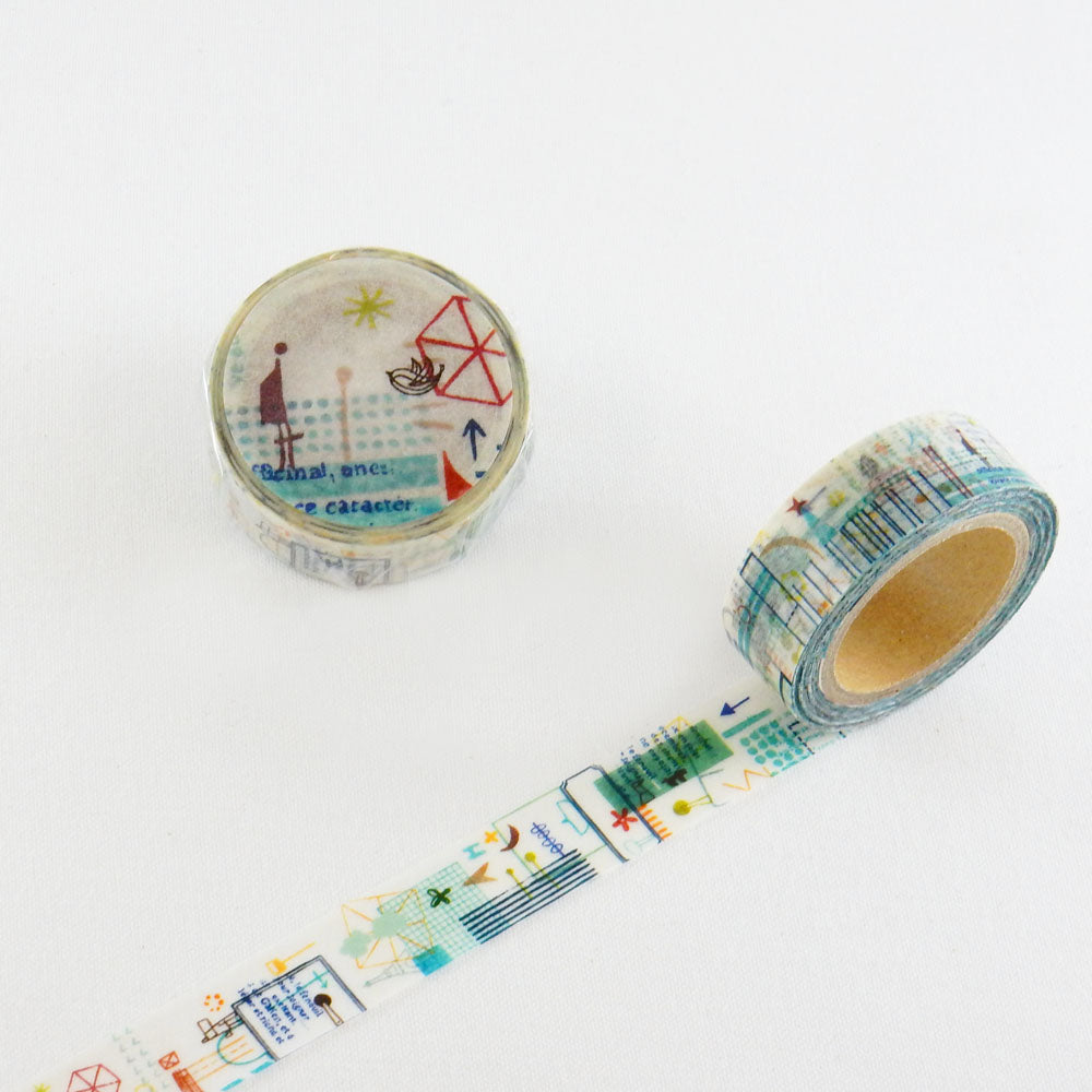 Round Top x ChamilGarden Journey Washi Tape (MTW-1310-018