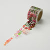 Round Top x Yano Design Flower Line - Red & Pink washi tape