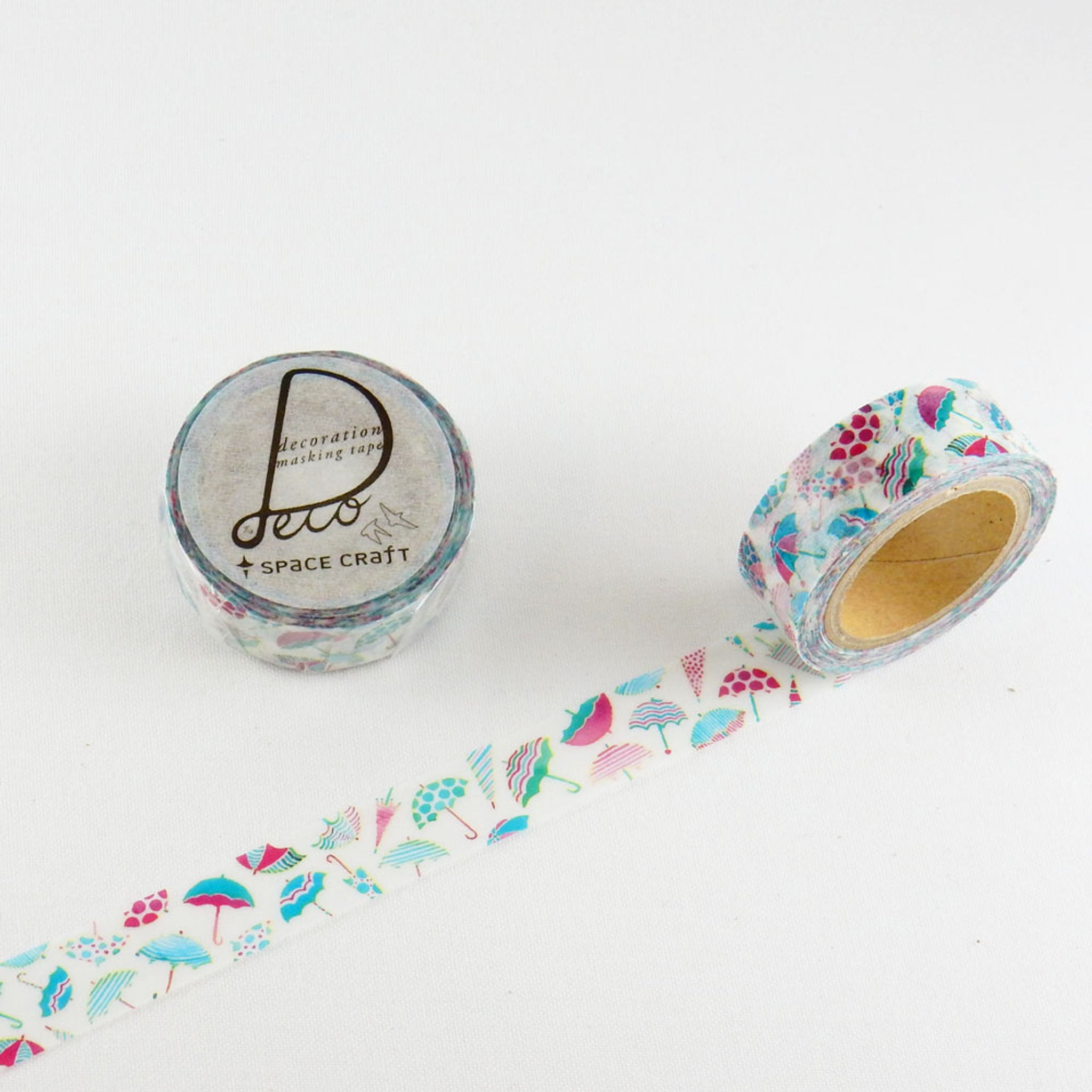 Washi Tape 15mm X 10m Collage Supplies Umbrellas