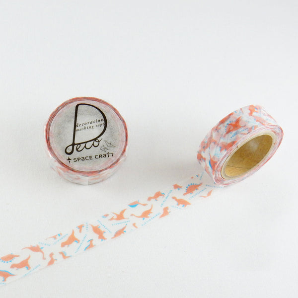 Round Top x Space Craft Washi Tape Dinosaur