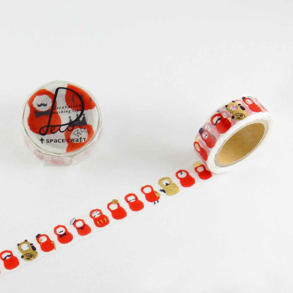 Round Top x Space Craft Washi Tape Daruma (SC-MK-026