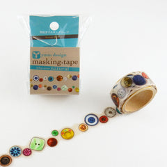 Round Top x Yano Design buttons washi tape