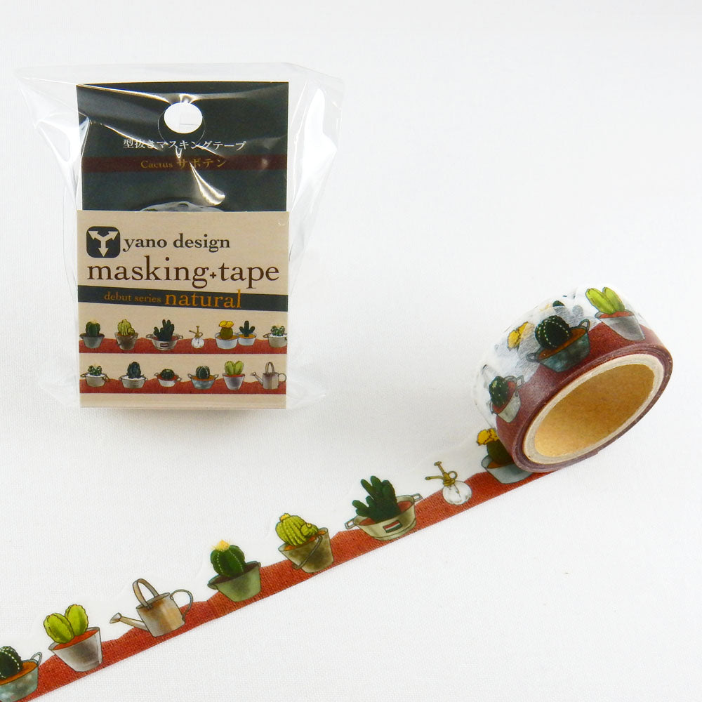 Round Top x Yano Design cactus washi tape (YD-MK-011