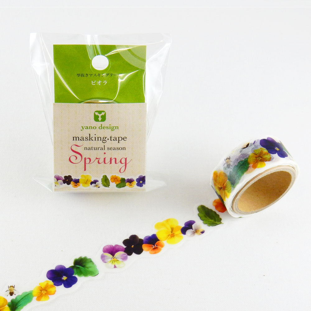 Round Top x Yano Design Spring, Viola washi tape (YD-MK-031