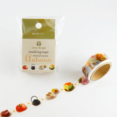 Round Top x Yano Design Autumn, Autumn Sweets washi tape