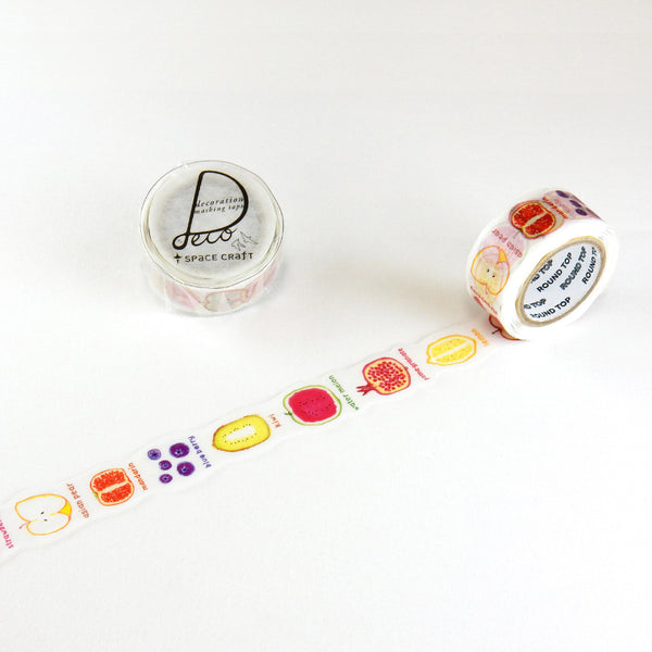 Round Top x Space Craft Washi Tape Fruits