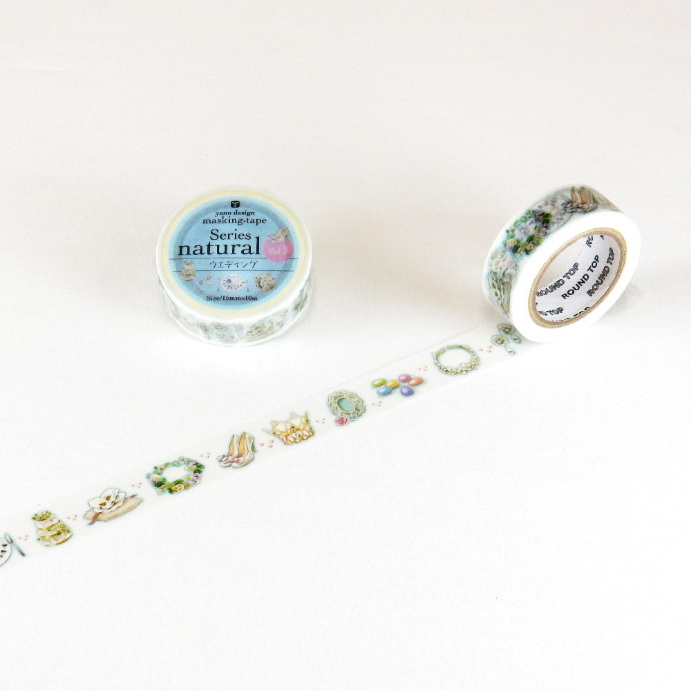 Round Top x Yano Design wedding washi tape (YD-MK-075