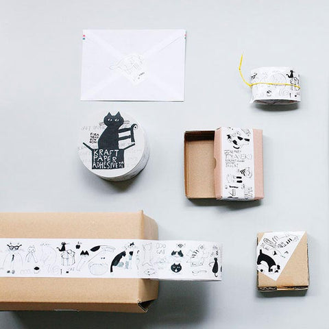 Classiky x Nachio Nakanisi Cat Packing Tape - Cityluxe