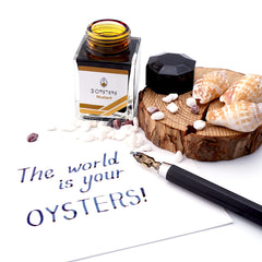 3 Oysters Delicious 38ml Ink Bottle Mustard