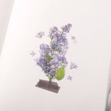 Load image into Gallery viewer, Appree Pressed Flower Sticker Lilac