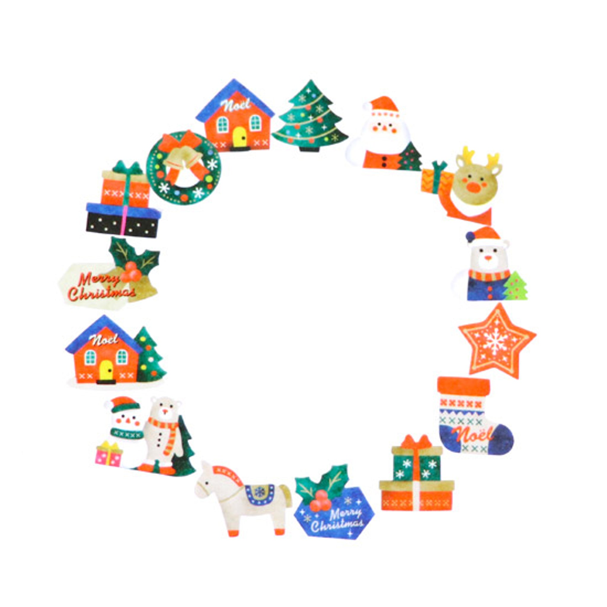 Bande Christmas Ornaments (B) Washi Roll Sticker