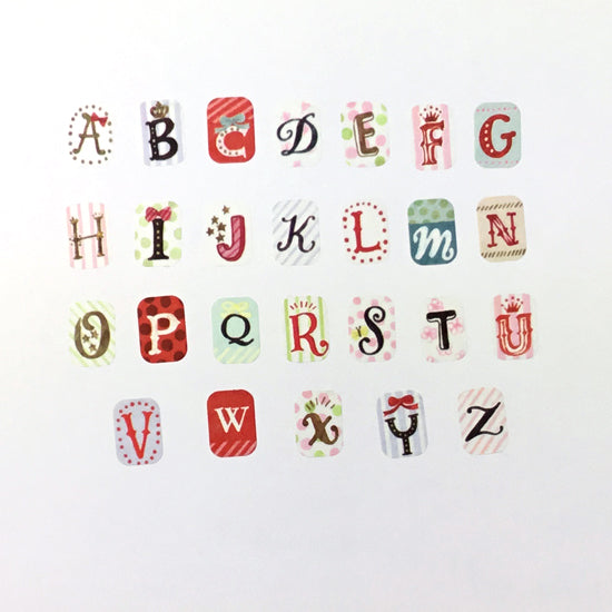Bande Kalo Alphabet (A-Z) Mini Washi Roll Sticker