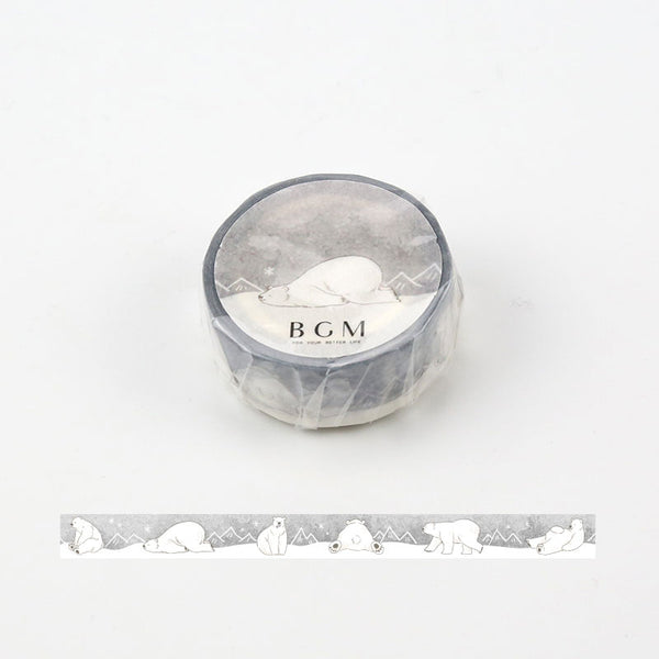 BGM Polar Bear Washi Tape - Cityluxe