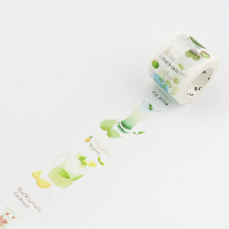 BGM Soft Drinks Green Washi Tape - Cityluxe
