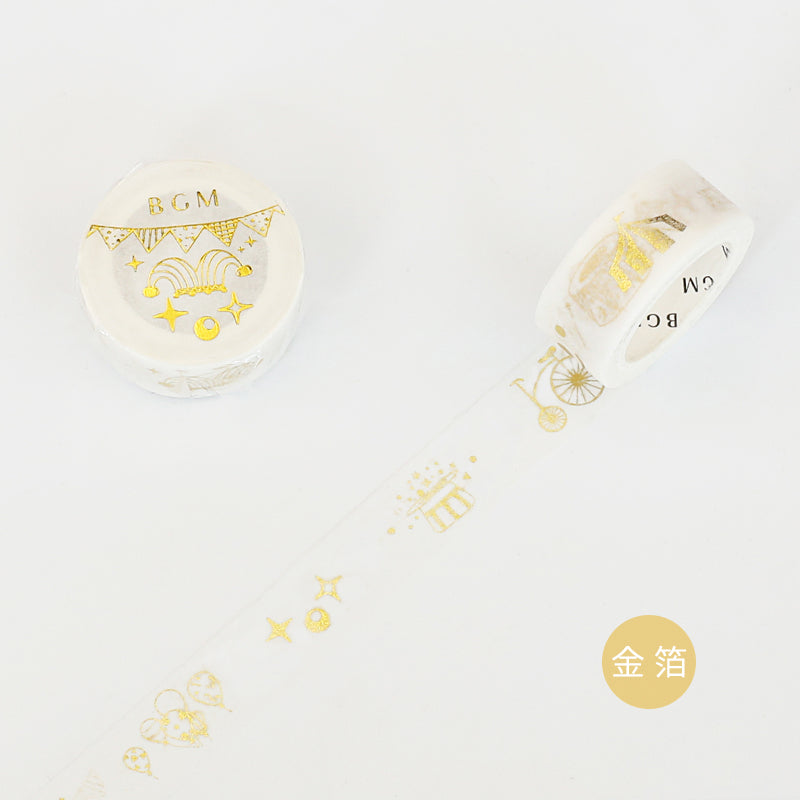 BGM Gold Circus Washi Tape
