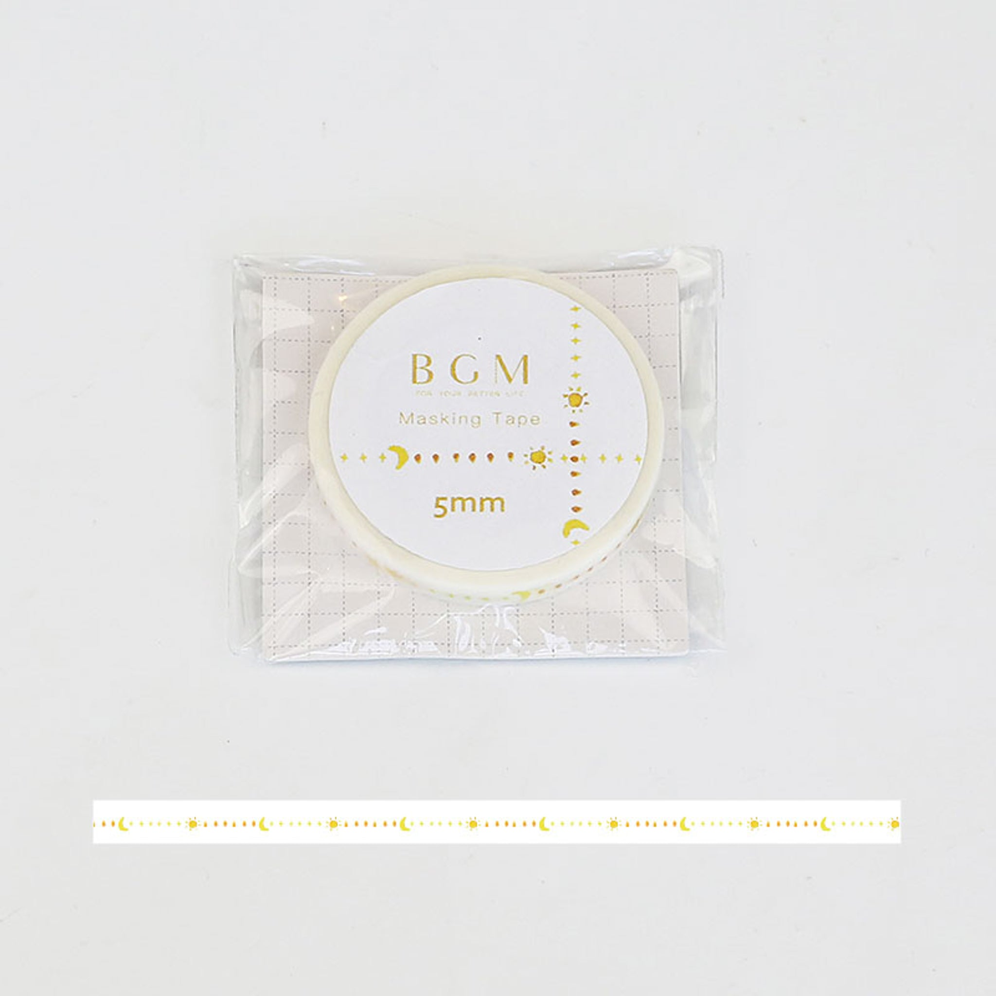 BGM The Sun And The Moon Washi Tape