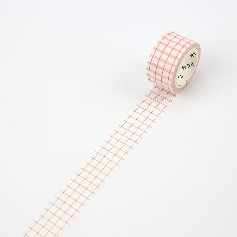 BGM Grid Red Washi Tape - Cityluxe