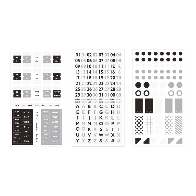 BGM Black And White Note Sticker - Cityluxe