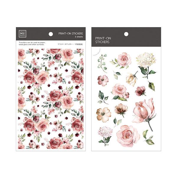 Mu Craft Print-On Sticker Pink Rose 038