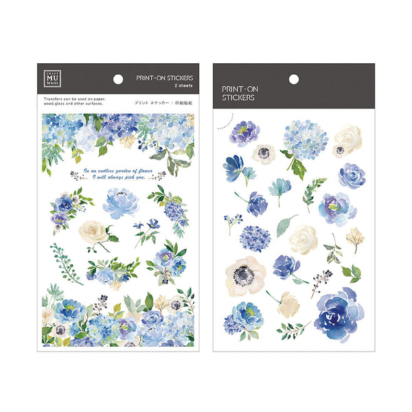 Mu Craft Print-On Sticker Blue Rose 039