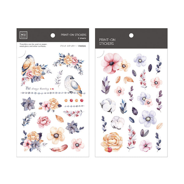 Mu Craft Print-On Sticker Garden Pink 040