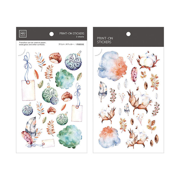 Mu Craft Print-On Sticker Bells & Flowers 043