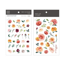 Load image into Gallery viewer, Mu Craft Print-On Sticker Watercolor Flower 044