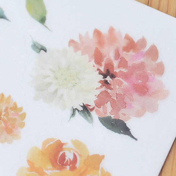 Mu Craft Print-On Sticker Watercolor Flower 044