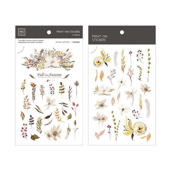 Mu Craft Print-On Sticker Ferns (Autumn) 045
