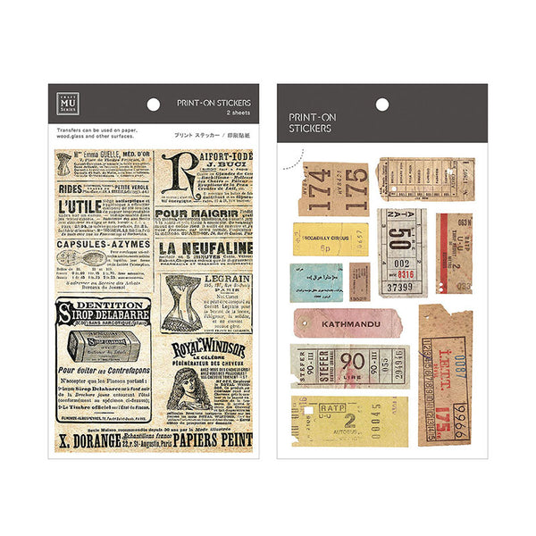 Mu Craft Print-On Sticker Newspaper & Tickets 047