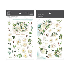 MU Craft Print-On Sticker Blooming 141