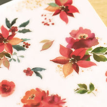 Load image into Gallery viewer, MU Craft Print-On Sticker Red Flowers 152