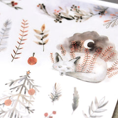 MU Craft Print-On Sticker Winter Animals 154