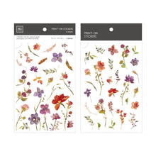 Load image into Gallery viewer, MU Craft Print-On Sticker Red & Purple Flowers 158