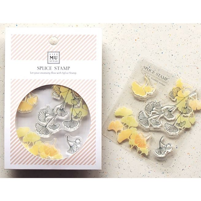 MU Craft Clear Splice Stamp Gingko 19