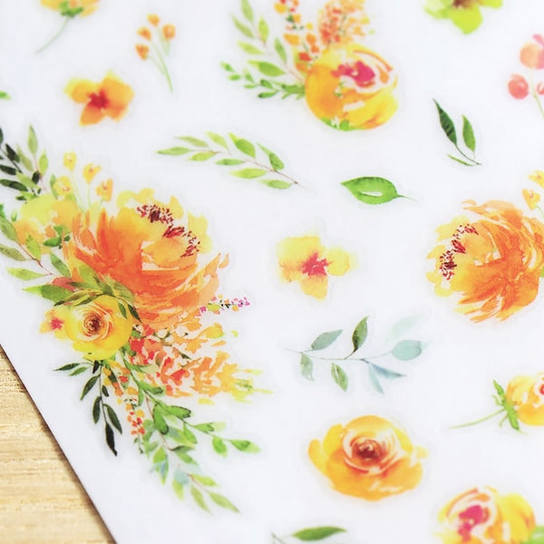 MU Craft Print-On Sticker Yellow Garden 143