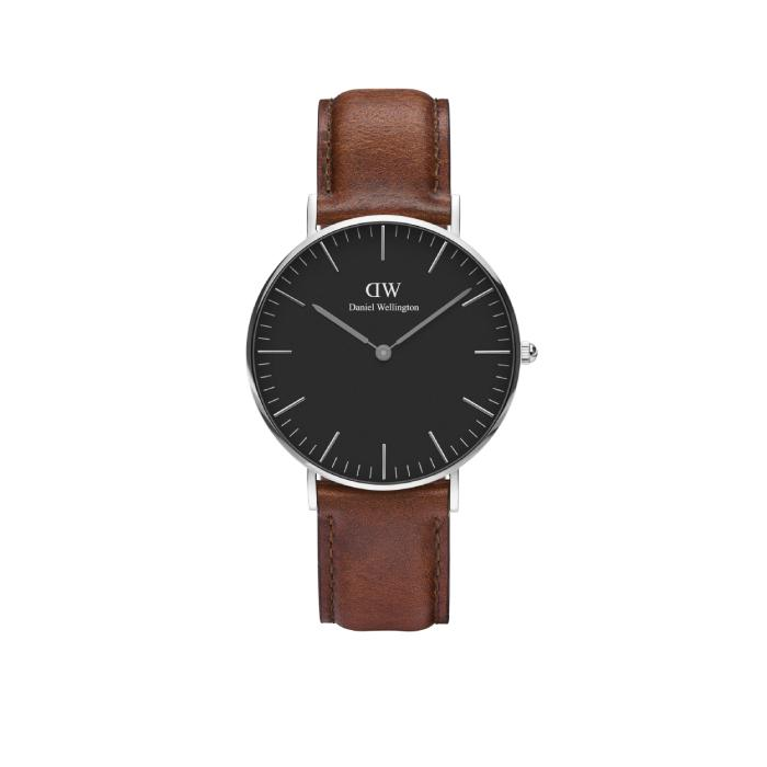 Daniel Wellington Classic Black 36mm Silver Watch (without box)